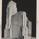 Cincinnati Ohio Postcard, Netherland Plaza Hotel Building, Black and White c.1939