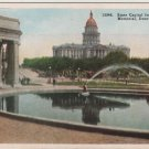 Denver Colorado Postcard, Capitol from Voorhies Memorial c.1925