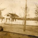 Ohio Postcard, Toledo Beach Bath House, Sepia Real Photo c.1900