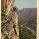 Lake Lure North Carolina Postcard, Devil's Head and Rocky Broad Gorge, Full Color c.1930