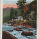 Great Smoky Mountains National Park Tennessee Postcard, East Prong Little River c.1942