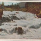 Yellowstone National Park Wyoming Postcard, Firehole Cascades, Full Color c.1921