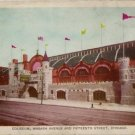 Chicago Illinois Postcard, The Coliseum, Wabash & Fifteenth Street c.1917