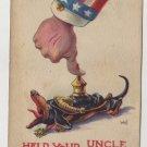 Patriotic Postcard, Shows WWI Era Uncle Sam c.1918