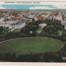 Washington D.C. Postcard, Washington North from Monument, Full Color c.1929