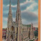 New York City Postcard, St. Patrick's Cathedral, Full Color c.1950