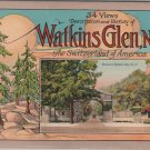 Watkins Glen New York Souvenir Booklet, 34 Views, Descriptions & History c.1935