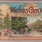 Watkins Glen New York Souvenir Booklet, 34 Views, Descriptions & History c.1935