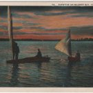 Toledo Ohio Landscape Postcard, View of Eventide on Maumee Bay c.1919