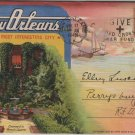New Orleans LA Postcard Folder, 18 Views of The Paris of America c.1937