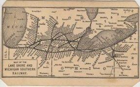 Lake Shore & Michigan Southern Railroad Business Card c.1897