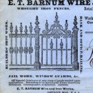E.T. Barnum Wire & Iron Works Sales Letters, Detroit Michigan c.1883