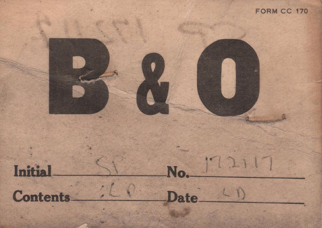 B & O Railroad Forms & Envelopes, Some C & O, Pennsylvania & New York Central, 15 Pieces c.1960