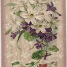 Easter postcard, Bouquet of Wildflowers with Welcome Easter Morning c.1907