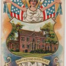 George Washington Bday Postcard, Woodlawn Mansion c.1908