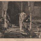 Souvenir of Granada by Vincente Palmmeroli, Art Journal Print c.1877