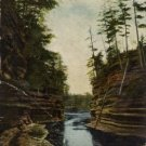 Kilbourn Wisconsin Postcard, Channel at Steamboat Rock, Dells of the Wisconsin River c.1900