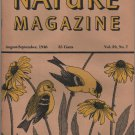 Nature Magazine, Goldfinches, Yellow Hexom Cover c.1946
