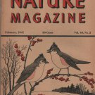 Nature Magazine, Tufted Titmouse, Red Hexom Cover c.1947