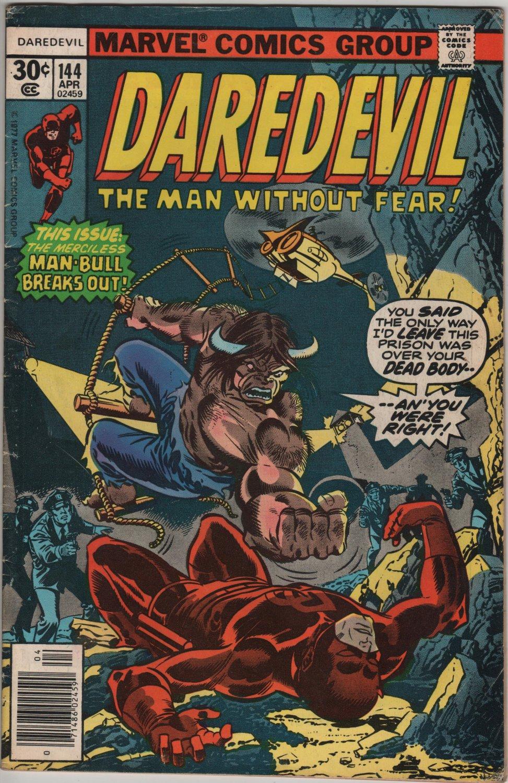 Daredevil #144 The Merciless Man-Bull Breaks Out c.1977