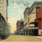 Mobile Alabama Postcard, Royal Street Looking North c.1904
