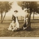 WWI Era Photo, Young Foursome at Party c.1918 OM