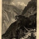 J.D. Woodward Print,  Giant's Gap in American Cañon c.1877