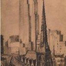 Elizabeth O'Neill Verner Print, New York City, 70th Floor of RCA Building c.1940