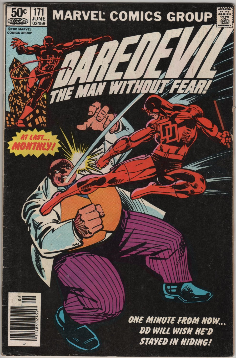 Daredevil #171 One Minute From Now c.1981