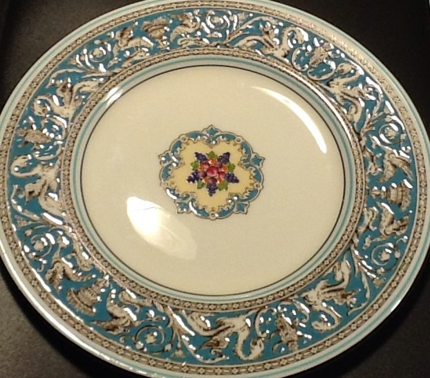 Wedgwood Fine Bone China 8 Inch Salad Plate, Florentine Pattern