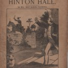 Hinton Hall by May Agnes Fleming, The Leisure Hour Library No. 3, Lupton & Lovell c.1901