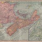 Map of Canadian Maritime Provinces, Hammond Atlas c.1910