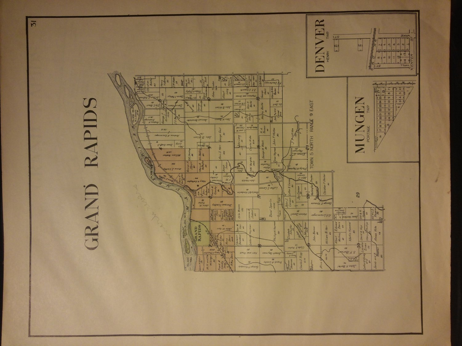 Grand Rapids Township Map, Wood County Ohio c.1912