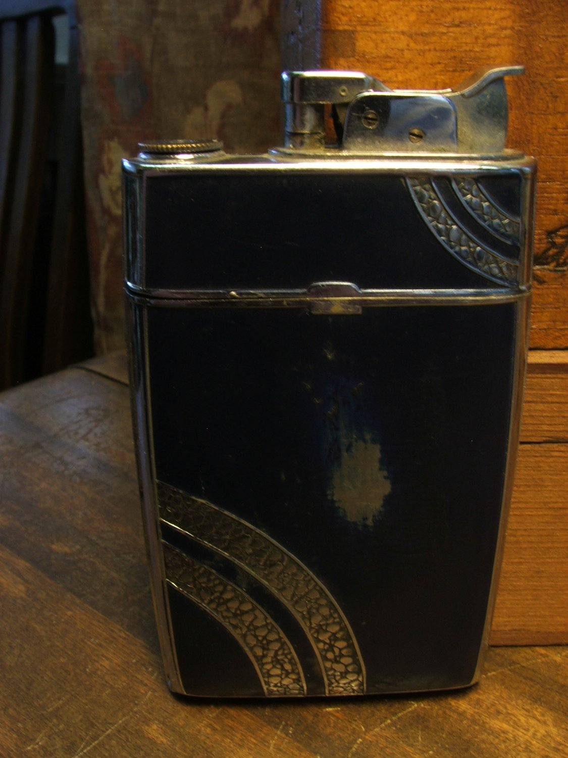 Evans Cigarette Case & Lighter Combo c.1937