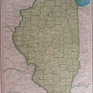 Illinois Map, Rand McNally c.1949