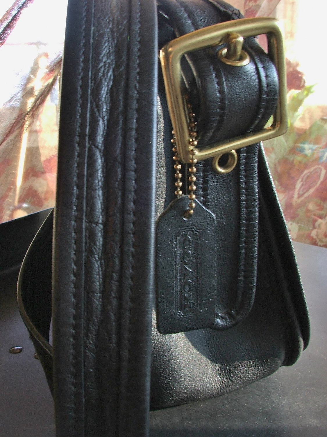 Coach Bag, Patricia Legacy Black Leather