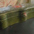 Texoloid Folk Art Dresser Box, Bas Relief Rose c.1929