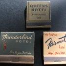 Matchbooks, Stork Club, Thunderbird Hotel & Hickory Wood Bar BQ c.1950