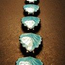 Norwegian Sterling Silver & Turquoise Enamel Bracelet c.1959