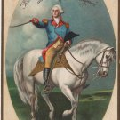 George Washington Bday Postcard, White Horse c.1909