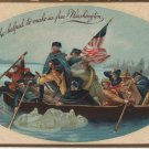 George Washington Bday Postcard, Crossing Potomac c.1909