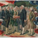 George Washington Bday Postcard, Inauguration c.1908
