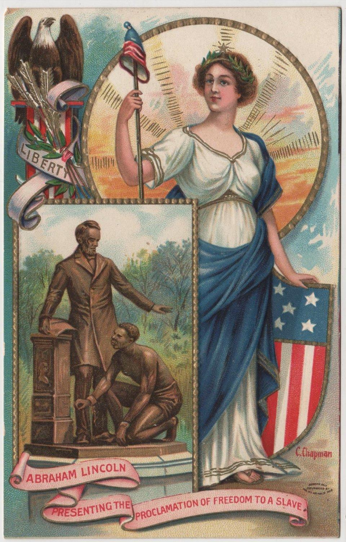 Lincoln Centennial Card, Emancipation Proclamation c.1908
