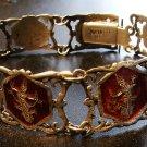 Siam Sterling Silver & Red Enamel Bracelet c.1949