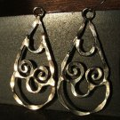 Silver Hammered Teardrop Earrings c.1969