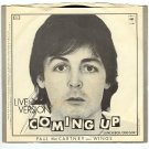 Paul McCartney and Wings Live Version Coming Up   45rpm Record
