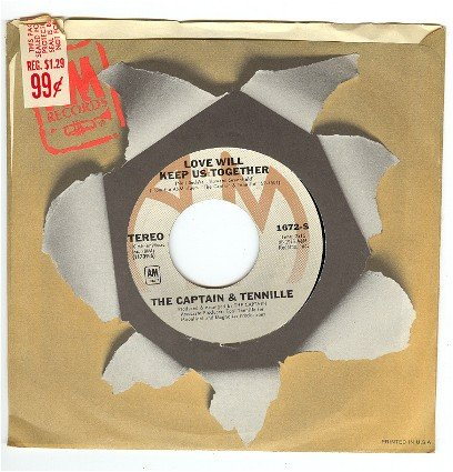Captain and Tennille  Love Will Keep Us Together         45rpm Record