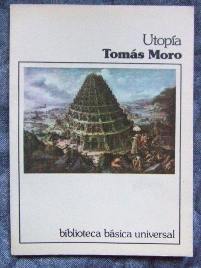 UTOPIA, Tomas Moro Spanish Edition Vintage 1st ED, +BONUS