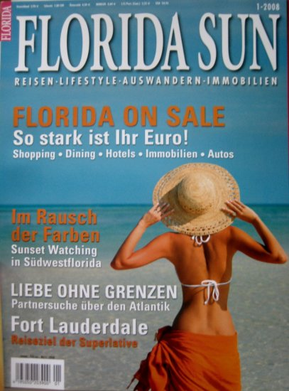 FLORIDA SUN Magazine, in GERMAN * Jan/Feb/Marz 2008 NEW