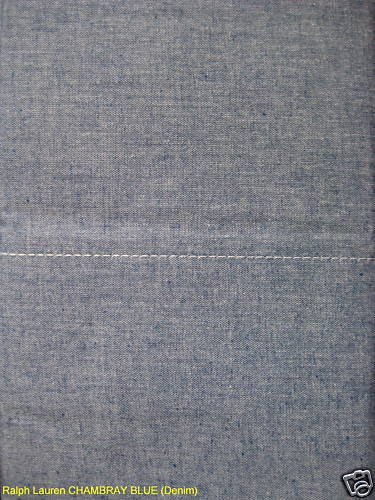 Ralph Lauren CHAMBRAY BLUE (Denim) TWIN FLAT Sheet NIP